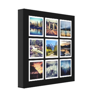 Collage de lujo de la rejilla de 9 fotografías impresión en lona