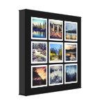 Collage de lujo de la rejilla de 9 fotografías lienzo envuelto para galerías