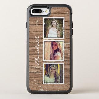 Collage de madera rústico de la foto de Instagram Funda OtterBox Symmetry Para iPhone 7 Plus