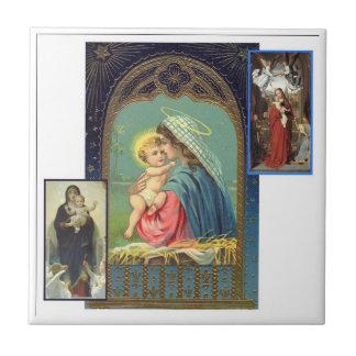 Collage de Madonna Azulejo Cuadrado Pequeño