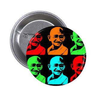 Collage de Mahatma Gandhi Pin Redondo 5 Cm