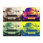 Collage de Mini Cooper Lona Envuelta Para Galerias