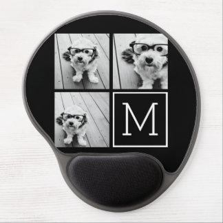 Collage de moda blanco y negro de la foto con el alfombrilla gel