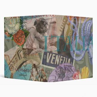 """Collage de moda del viaje de Italia del vintage de Carpeta 1"""""""