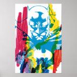 Collage de neón del marcador de Batman Impresiones