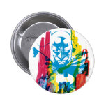 Collage de neón del marcador de Batman Pin Redondo De 2 Pulgadas