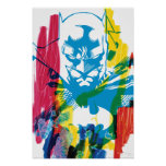Collage de neón del marcador de Batman Póster