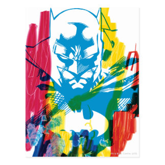Collage de neón del marcador de Batman Tarjetas Postales