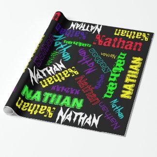Collage de neón del nombre del color del papel de