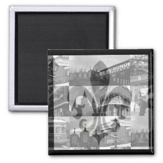 Collage de New Orleans [imán] Imán Cuadrado