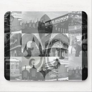 Collage de New Orleans Mousepad Tapetes De Ratones