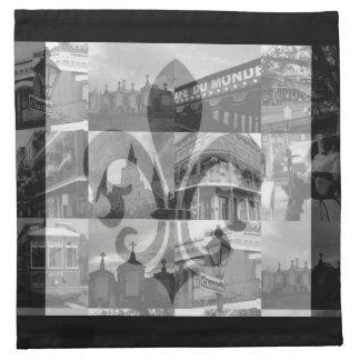 Collage de New Orleans [servilletas del paño]