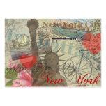 Collage de New York City del vintage Plantilla De Tarjeta Personal