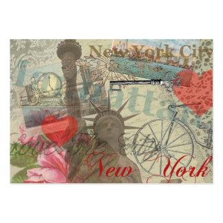Collage de New York City del vintage Tarjetas De Visita Grandes