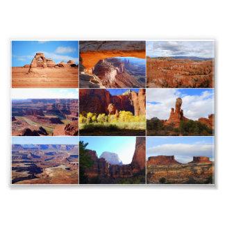 Collage de nueve señales de Utah Fotografía