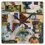 Collage de papel del gótico del vintage relojes de pared