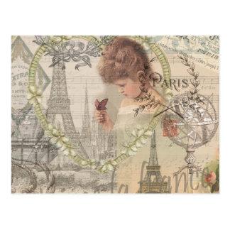 Collage de París Francia del vintage Tarjetas Postales