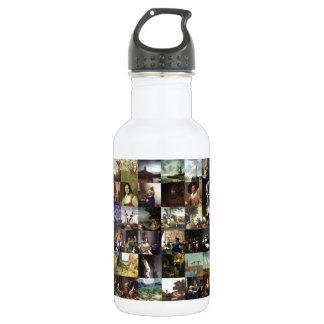 Collage de pinturas de Van Gogh, de Vermeer, del Botella De Agua