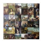 Collage de pinturas de Van Gogh, de Vermeer, del e Tejas