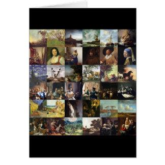Collage de pinturas de Van Gogh, de Vermeer, del Tarjeta De Felicitación