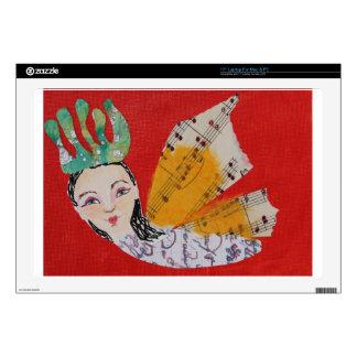 Collage de princesa With Musical Wings Art de la m Calcomanías Para Portátiles