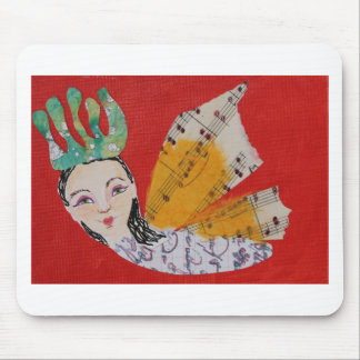 Collage de princesa With Musical Wings Art de la m Mouse Pads