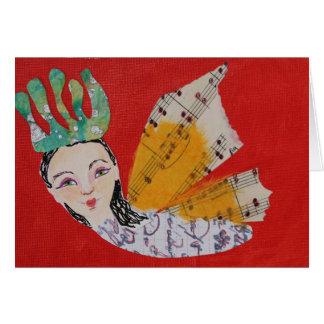 Collage de princesa With Musical Wings Art de la m Felicitacion