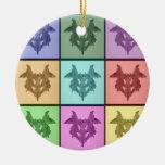 Collage de Rorschach 1 ornamento Adorno Para Reyes