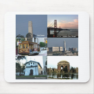 Collage de San Francisco Alfombrillas De Ratón