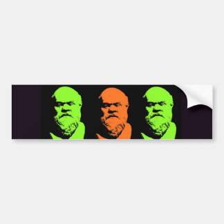 Collage de Sócrates Etiqueta De Parachoque