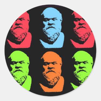 Collage de Sócrates Etiquetas Redondas