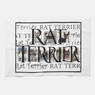 Collage de Terrier de rata Toalla De Cocina