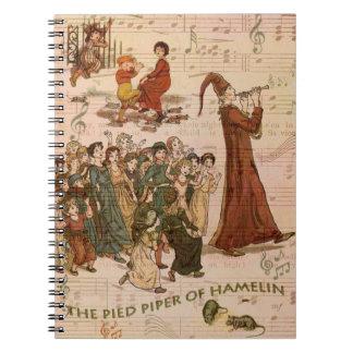 Collage de varios colores del gaitero cuadernos