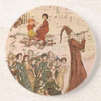 Collage de varios colores del gaitero posavasos personalizados