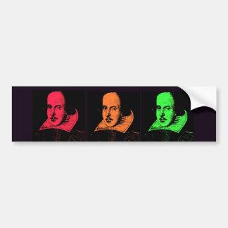 Collage de William Shakespeare Pegatina Para Auto