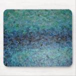 Collage del agua azul tapete de ratones