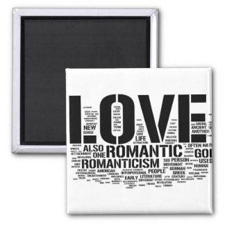 Collage del amor imán cuadrado