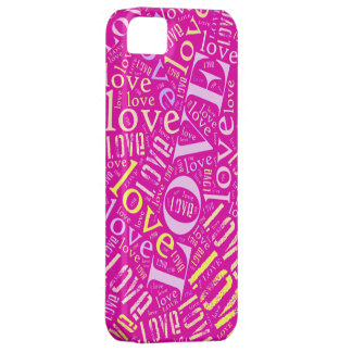Collage del amor iPhone 5 carcasa