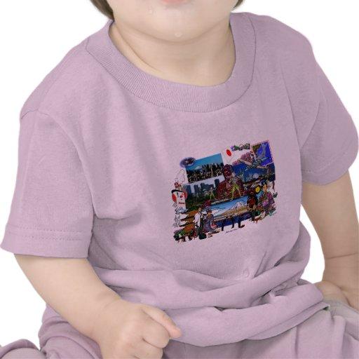 Collage del archipiélago japonés de Japón Camiseta