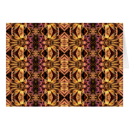 Collage del art déco de la tapicería - tarjeta