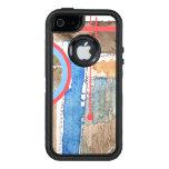 collage del arte abstracto, técnicas mixtas y funda otterbox para iPhone 5/5s/SE