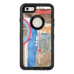 collage del arte abstracto, técnicas mixtas y funda otterbox para iPhone 6/6s plus