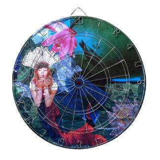 Collage del arte de la diosa de Mermaig con los pi Tablero Dardos