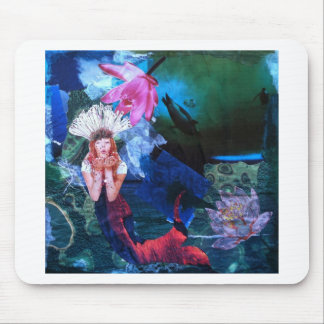 Collage del arte de la diosa de Mermaig con los pi Tapete De Ratón