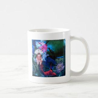 Collage del arte de la diosa de Mermaig con los pi Taza De Café