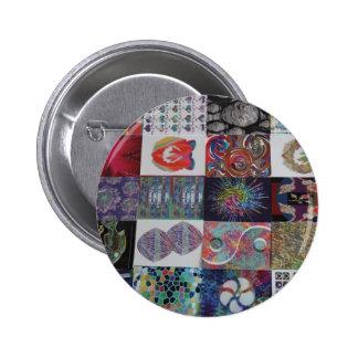 Collage del arte de los SALUDOS Pin Redondo De 2 Pulgadas