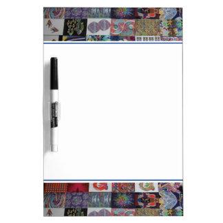 Collage del arte de los SALUDOS Pizarras Blancas De Calidad