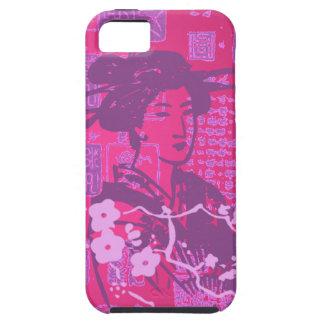 Collage del asiático del vintage iPhone 5 Case-Mate cárcasa
