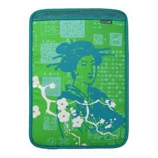 Collage del asiático del vintage funda para macbook air