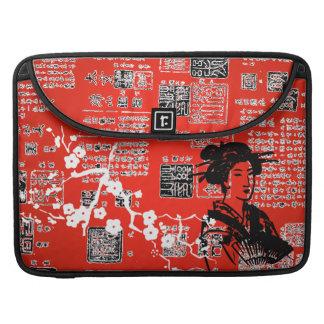 Collage del asiático del vintage fundas para macbooks